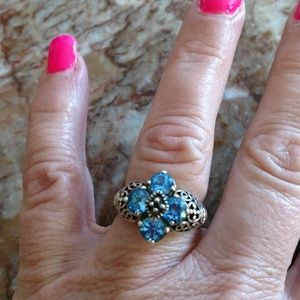 Gorgeous sterling blue topaz ring